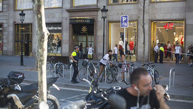 Ситуация на месте теракта в Барселоне
