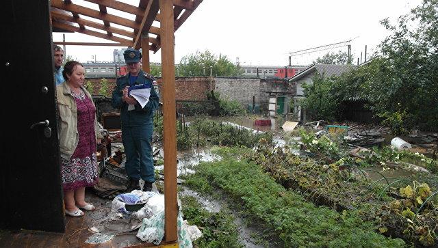 В Красноярске из-за затяжного ливневого дождя введен режим ЧС. 20 августа 2017