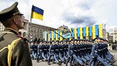 Украинские военнослужащие на параде в честь Дня независимости в Киеве. 24 августа 2017