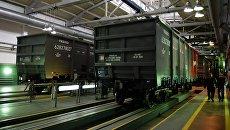 Грузовые вагоны. Архивное фото