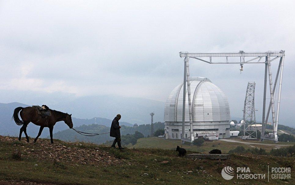 Большой телескоп азимутальный на территории Специальной астрофизической обсерватории Российской академии наук