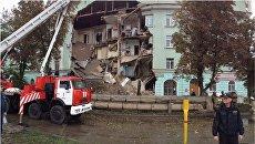 Обрушение дома в городе Орле