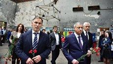 Глава Республики Северная Осетия - Алания Вячеслав Битаров на траурных мероприятиях 1-го сентября в Беслане
