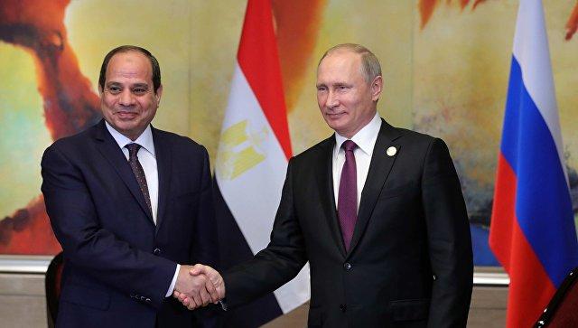 Президент РФ Владимир Путин и президент Арабской Республики Египет Абдул-Фаттах ас-Сиси. Архивное фото