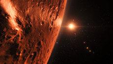 Так художник представил себе планеты в системе TRAPPIST-1