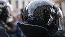 Полицейские в Москве во время несанкционированной акции. Архивное фото