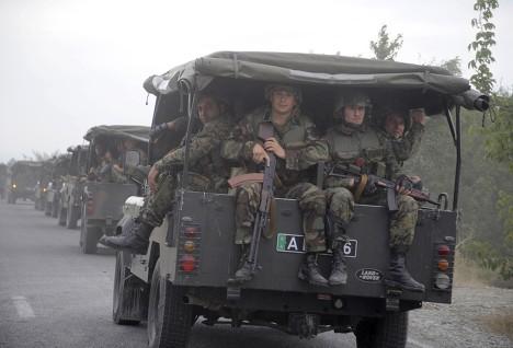 Грузинские военнослужащие в Южной Осетии