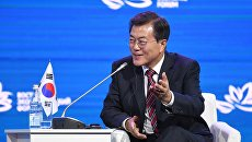 резидент Республики Кореи Мун Чжэ Ин на пленарном заседании III Восточного экономического форума во Владивостоке