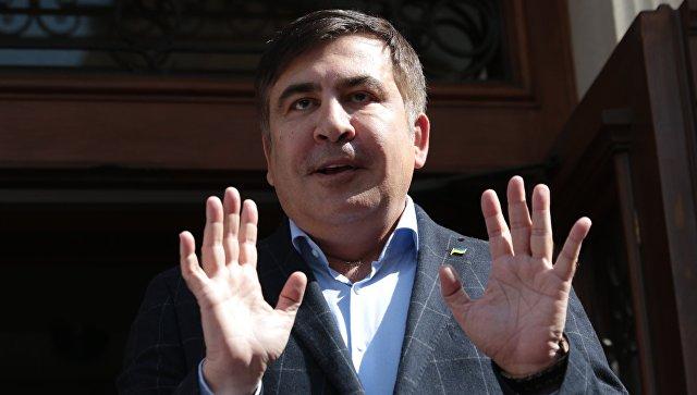 СМИ: на Украине полиция остановила кортеж Саакашвили за нарушение ПДД