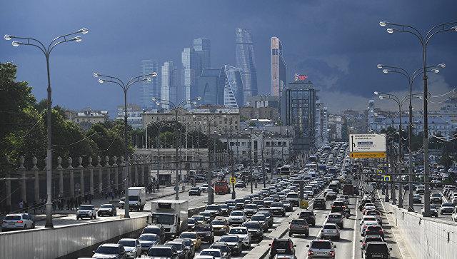 Пробка в Москве. Архивное фото