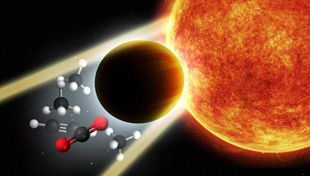 Так художник представил себе то как лучи звезды проходят через атмосферу далекой планеты