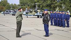 Российские военные летчики сообщают о прибытии на авиабазу в Беларуси на военные учения Запад-2017. 12 сентября 2017