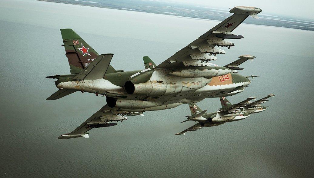 Штурмовики Су-25СМ3. Архивное фото