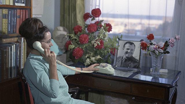Валентина Гагарина - жена летчика-космонавта, Героя Советского Союза Юрия Алексеевича Гагарина. Архивное фото