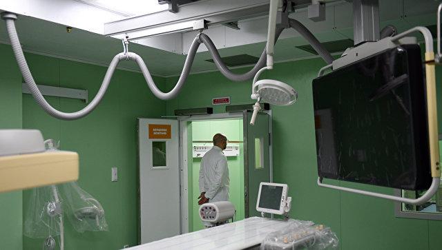 Операционная ангиографии в новом лечебном корпусе Морозовской больницы в Москве. 14 сентября 2017