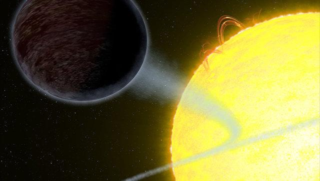 Планета WASP-12b, отражающая всего 0,6% света звезды