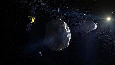 Так художник представил себе европейскую миссию AIM у астероида Дидим