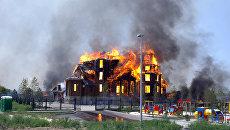 Благовещенский храм в Горловке, сгоревший в результате артобстрела