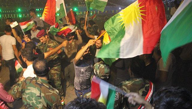 Сторонники независимости Курдистана устроили пробку в центре Эрбиля