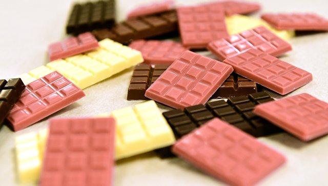Рубиновый шоколад на заводе Barry Callebaut в в Бельгии