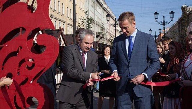 Открытие Первой Всероссийской ярмарки одежды, обуви и текстиля в Санкт-Петербурге