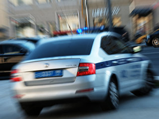 Автомобиль полиции на улице Москвы. Архивное фото