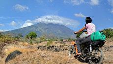 Проявление активности вулкана Агунг на острове Бали. 26 сентября 2017