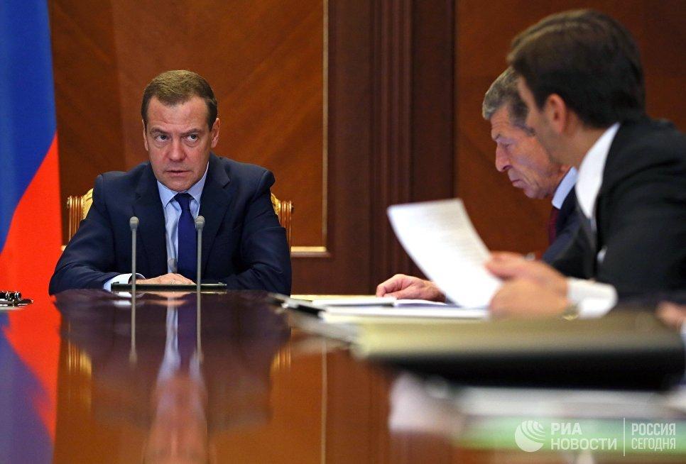 Дмитрий Медведев проводит заседание президиума Совета при президенте РФ по стратегическому развитию и приоритетным проектам. 27 сентября  2017