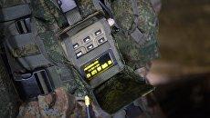 Элементы комплекса Стрелец в составе экипировки российских военнослужащих. Архивное фото