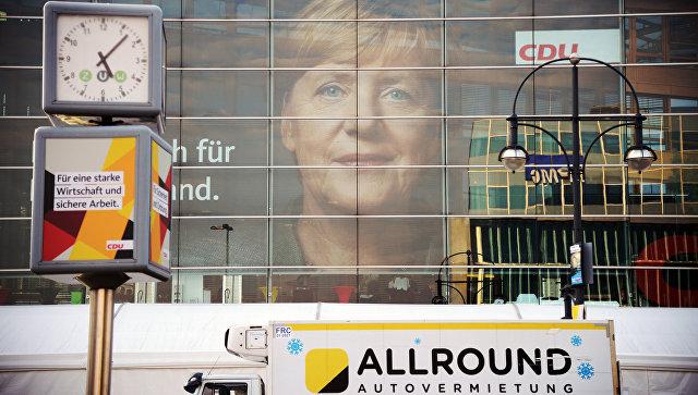 Меркель начнет наследующей неделе переговоры отрехпартийной коалиции