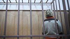 Главный бухгалтер авиакомпании ВИМ-Авиа Екатерина Пантелеева, подозреваемая в в хищении денежных средств пассажиров, в Басманном суде Москвы. 29 сентября 2017