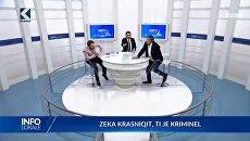 Косовские депутаты подрались в телевизионном эфире. Скриншот видео