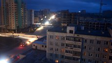 Жилые дома в Якутске во время аварии на Якутской ГРЭС. Архивное фото