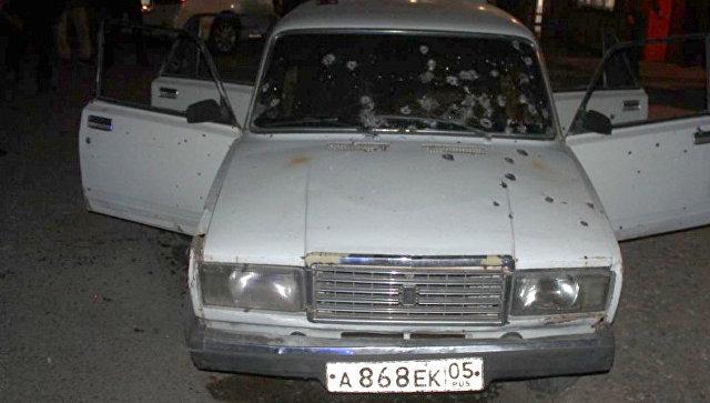 Автомобиль бандитов, причастных к убийству полицейских в Дагестане