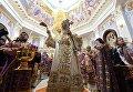 Патриарх Московский и Всея Руси Кирилл совершает чин освящения Успенского кафедрального собора в Ташкенте