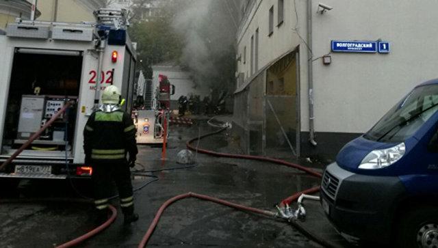 В спортзале наВолгоградском проспекте в российской столице произошёл пожар