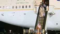 Кадры прибытия короля Саудовской Аравии в московский аэропорт Внуково