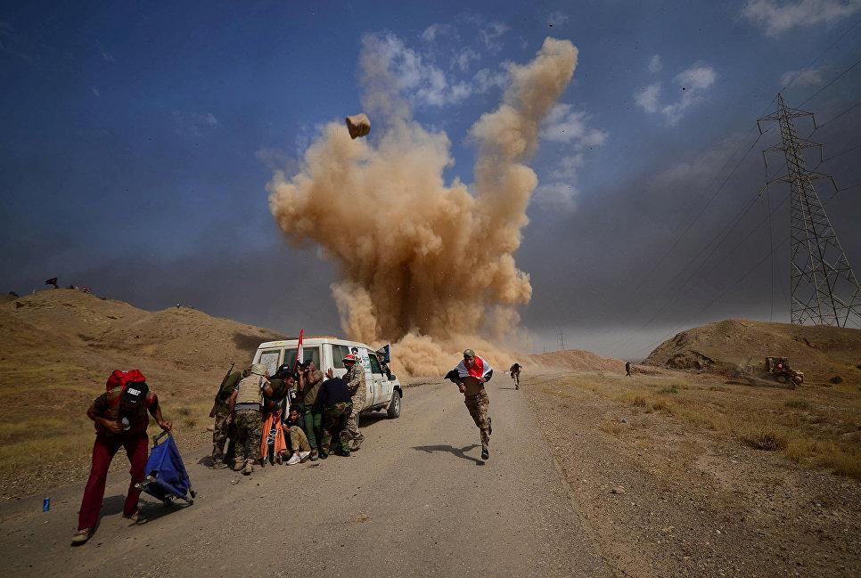 Шиитские народные мобилизационные силы возле города Хавия, Ирак