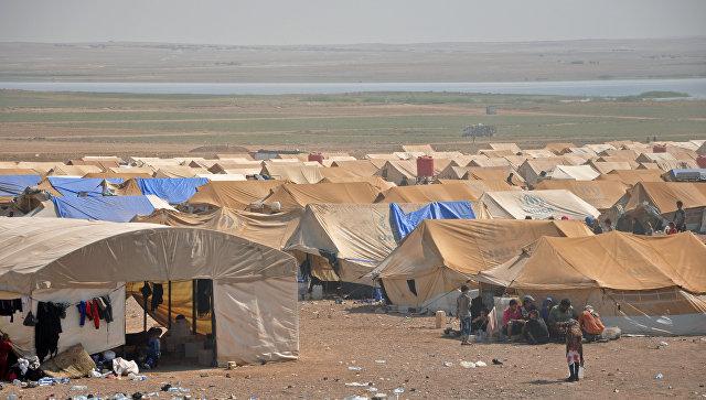Лагерь беженцев в Сирии. Архивное фото