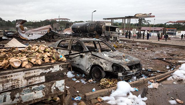 Сильный взрыв прогремел нагазовой станции вГане, есть жертвы