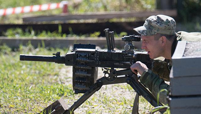 Автоматический станковый гранатомет АГС-30 на открытии выставки День передовых технологий правоохранительных органов РФ