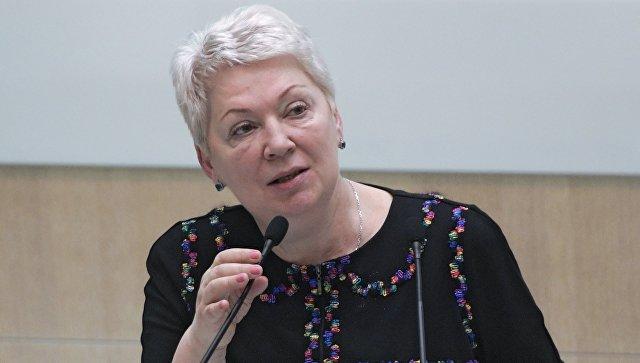 Министр образования и науки РФ Ольга Васильева выступает на заседании Совета Федерации РФ. Архивное фото