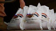 Гуманитарная помощь от России для сирийских мирных жителей. Архивное фото