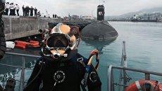Уникальные экспонаты водолазного дела ВМФ России. Архивное фото