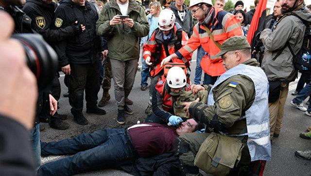 Украинская полиция считает действия сотрудников у здания Рады адекватными