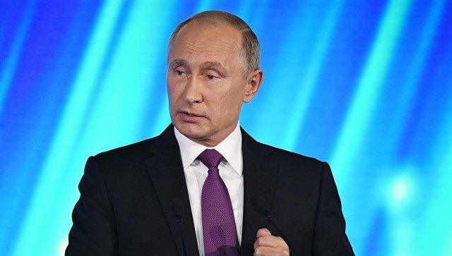 Путин: РФ  готова восстановить разговор  с Украинским государством