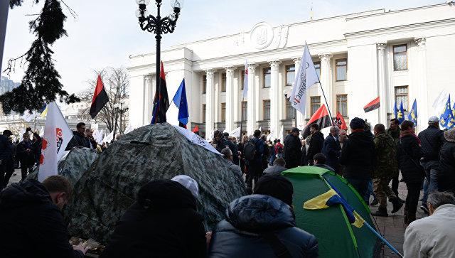 """Организаторы протеста у Рады заявили, что будут бороться """"другими методами"""""""