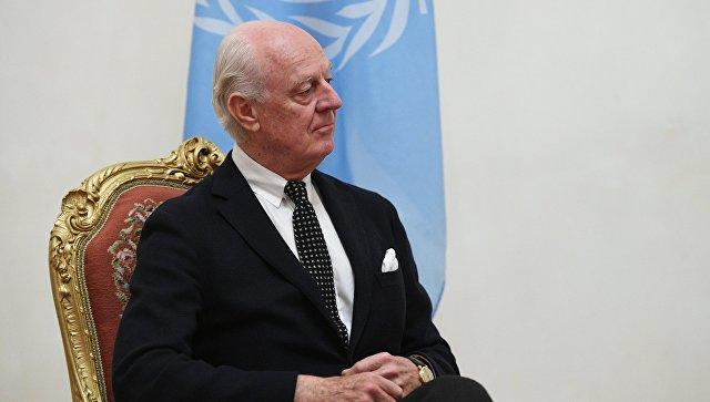 Де Мистура планирует в декабре провести два раунда переговоров по Сирии
