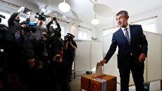 Лидер партии Акция недовольных граждан (ANO) Андрей Бабиш. 20 октября 2017