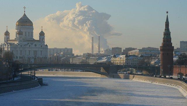 Москва в морозный день. Архивное фото